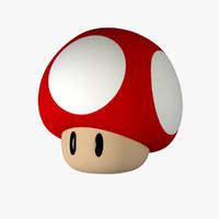 super mario mushroom 3d c4d