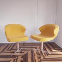 3d model alster armchair ligne roset