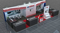 3d model tezmaksan - fair stand