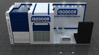 fair stand - isodoor 3d 3ds