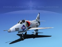 skyhawk douglas a-4 a-4d 3d 3ds
