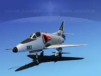 3d skyhawk douglas a-4 a-4d