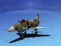 3dsmax skyhawk douglas a-4 a-4d