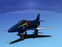 skyhawk douglas a-4 a-4d 3ds
