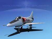 skyhawk douglas a-4 a-4d 3d dxf