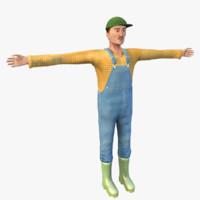 farmer character blender obj