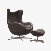 egg chair arne 3d max