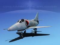 3d model skyhawk douglas a-4 a-4d