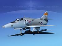 skyhawk douglas a-4 a-4g 3d model