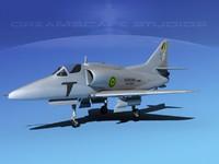 skyhawk douglas a-4 a-4g 3d 3ds