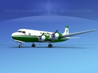 3ds max propellers douglas dc-6 air