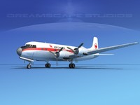 3d propellers douglas dc-6 air model
