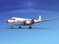 propellers douglas dc-6 airliner 3d model