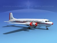 3d model propellers douglas dc-6 airliner