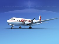 3ds max propellers douglas dc-6 airliner
