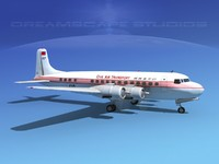 propellers douglas dc-6 transport 3d model