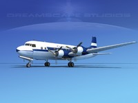 propellers douglas dc-6 airliner 3d 3ds