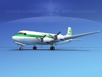propellers douglas dc-6 airliner 3d dxf