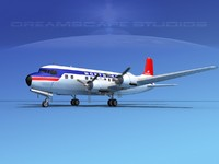 3d model of propellers douglas dc-6 airliner