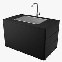 3dsmax kitchen sink tap