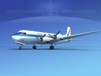3d propellers douglas dc-6 united model
