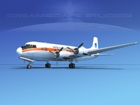 propellers douglas dc-6 3d model