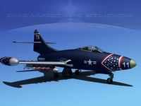 3d max panther f9f jet fighter