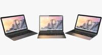 realistic apple macbook 2015 3d model