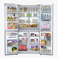 refrigerator lg dios 3d model