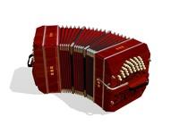bandoneon tango 3d max