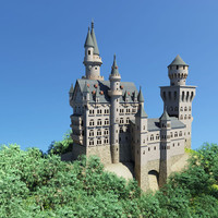 neuschwanstein castle 3d model