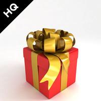 3d model present box