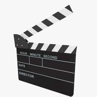 clapperboard scenes 3d fbx