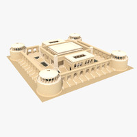 3d model temple silence