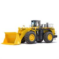 3d wheel loader komatsu wa900