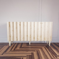 3dsmax hand painted fluted cabinet