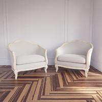rue bac bleached linen 3d model