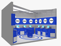 3d kiosk partition booth model