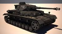 panzer iv g 3d model