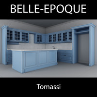3d model of kitchen belle epoque tomassi