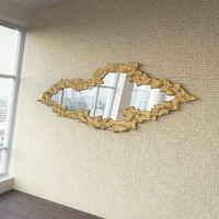 maya cloud gold frame mirror