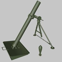 mortar dae x 3d model