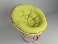 3d chair papasan model