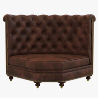 3d model restoration hardware kensington leather