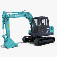 3ds max excavator kobelco sk75