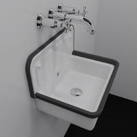 3d model vintage sink