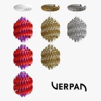 spiral pendants verner 3d model