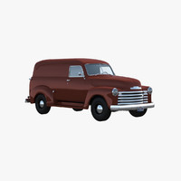 3d chevy panel van 1951 model
