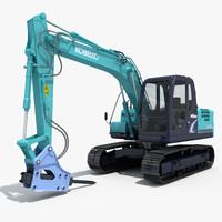 Kobelco SK140 Excavator with Hammer