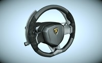 3d model lamborghini steering wheel
